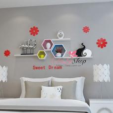 Kệ trang trí phòng ngủ TTPN12