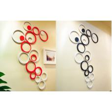 Họa tiết gỗ 3D hình tròn (có màu đỏ, đen, xanh lá, xanh dương , cam , hồng, trắng )