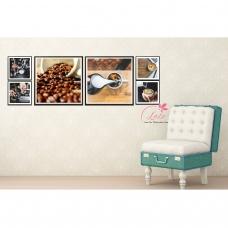 Tranh treo tường pha chế cà phê