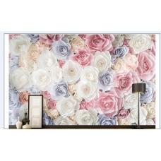 Tranh dán tường 3d hoa hồng