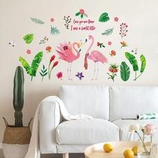 Decal dán tường chim hạc nghệ thuật 4