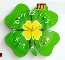 Đồng hồ treo tường cỏ 4 lá