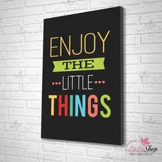 Tranh văn phòng enjoy the little things