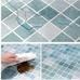Decal dán bếp họa tiết ô vuông xanh