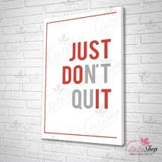 Tranh văn phòng just don't quit