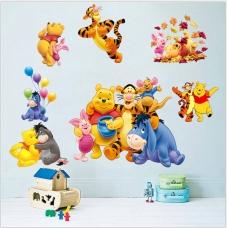 Decal Gấu Pooh và các bạn 2