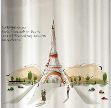 Decal kính mờ tháp Eiffel