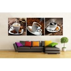 Tranh treo tường ba tách coffe