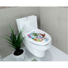 Dán toilet vẹt đuôi dài