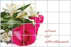 Decal dán bếp bó hoa hồng to 2 size 60x90cm
