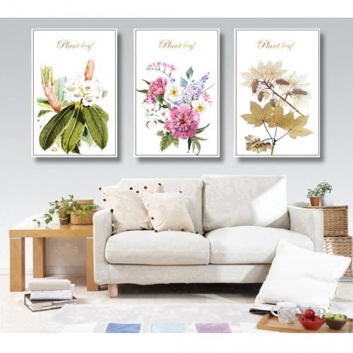 Tranh treo tường hoa và lá nghệ thuật