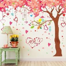 Decal cây tình yêu hồng