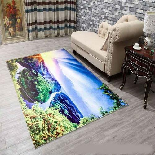 Thảm nhung hồ nước xanh