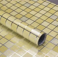 Decal dán bếp họa tiết ô vuông vàng 2