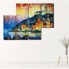 Tranh treo tường cách điệu thành phố nghệ thuật