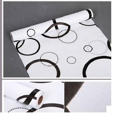Giấy decal cuộn vòng tròn trắng đen