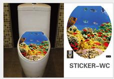 Dán toilet bãi san hô