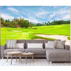 Tranh dán tường cỏ xanh