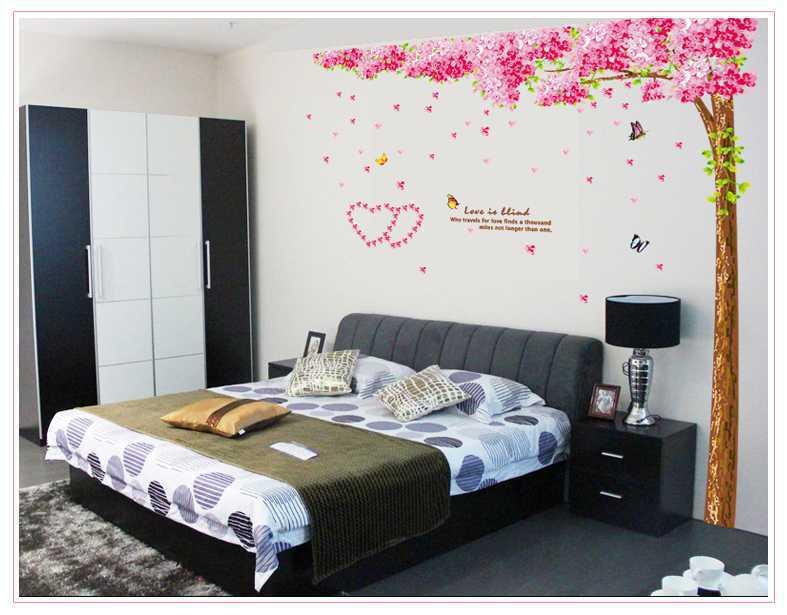 giấy dán tường cây đào hồng